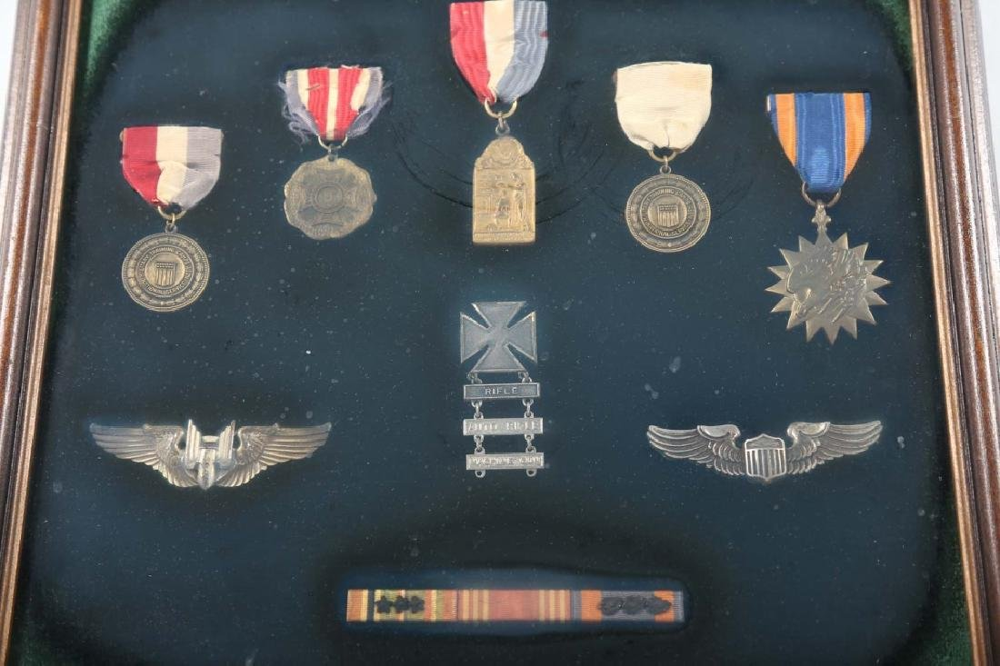 Collection Nine Vintage American Military Medals - 2
