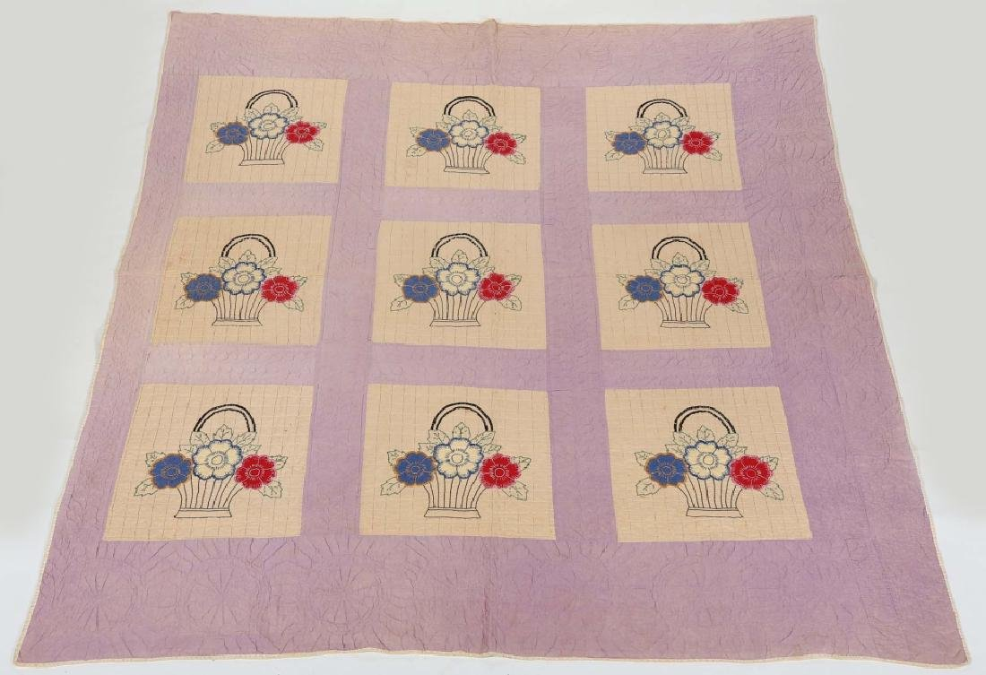 Antique American Pictorial Quilt