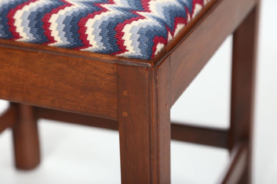 Chippendale Style Mahogany Bench Made Corner Chair - 3