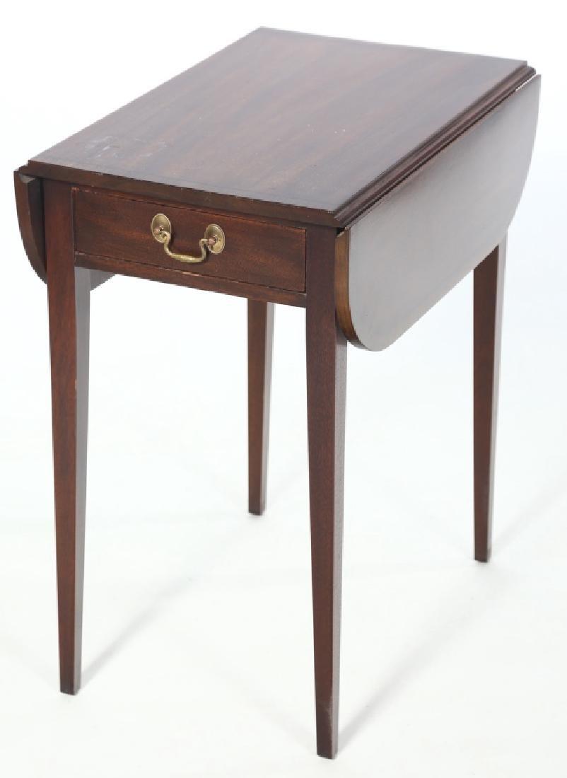 Henkel Harris Inlaid Federal Style Pembroke Table