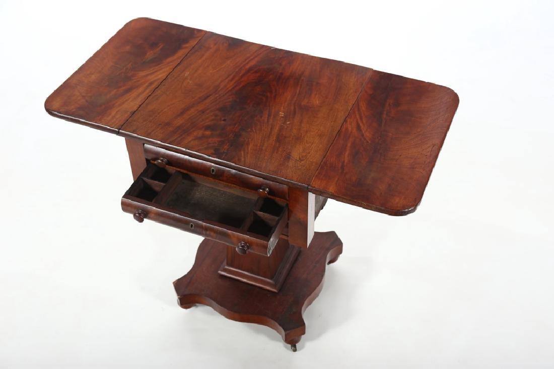 Classical Mahogany Drop Leaf Side Table - 2