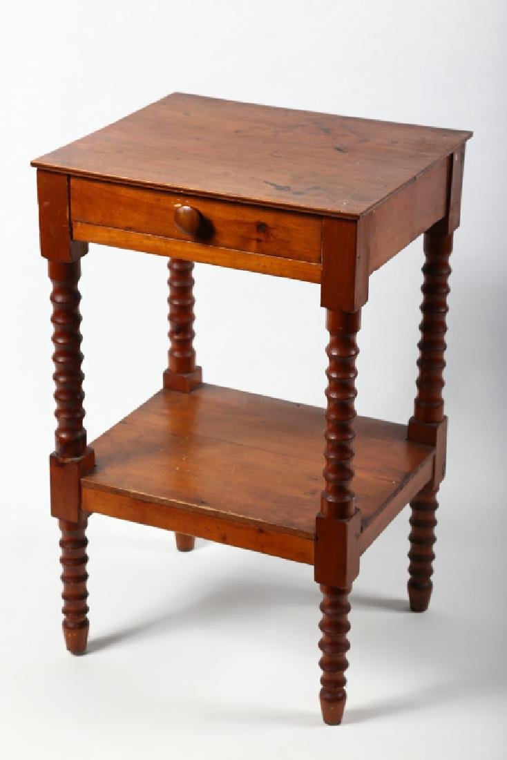 Federal Yellow Pine One Drawer Stand