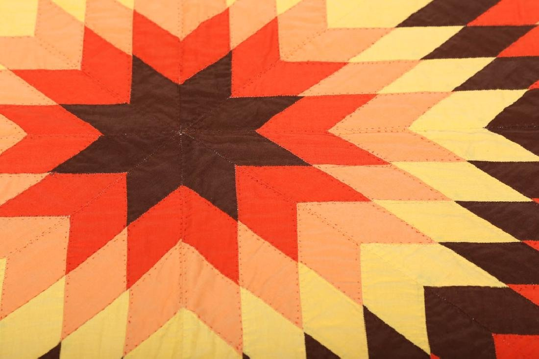 Lone Star Pieced Quilt - 2