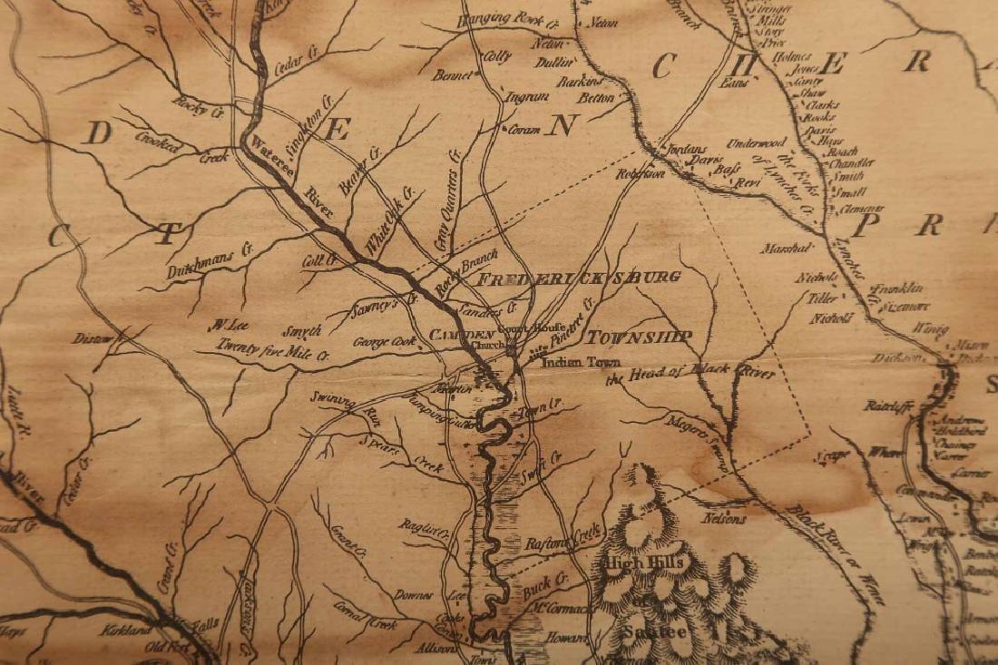 Rare 1967 Mouzon Map of North & South Carolina - 3