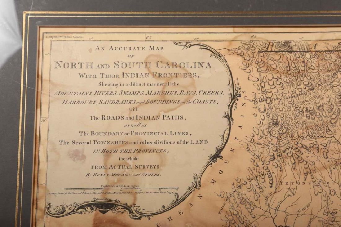 Rare 1967 Mouzon Map of North & South Carolina - 4