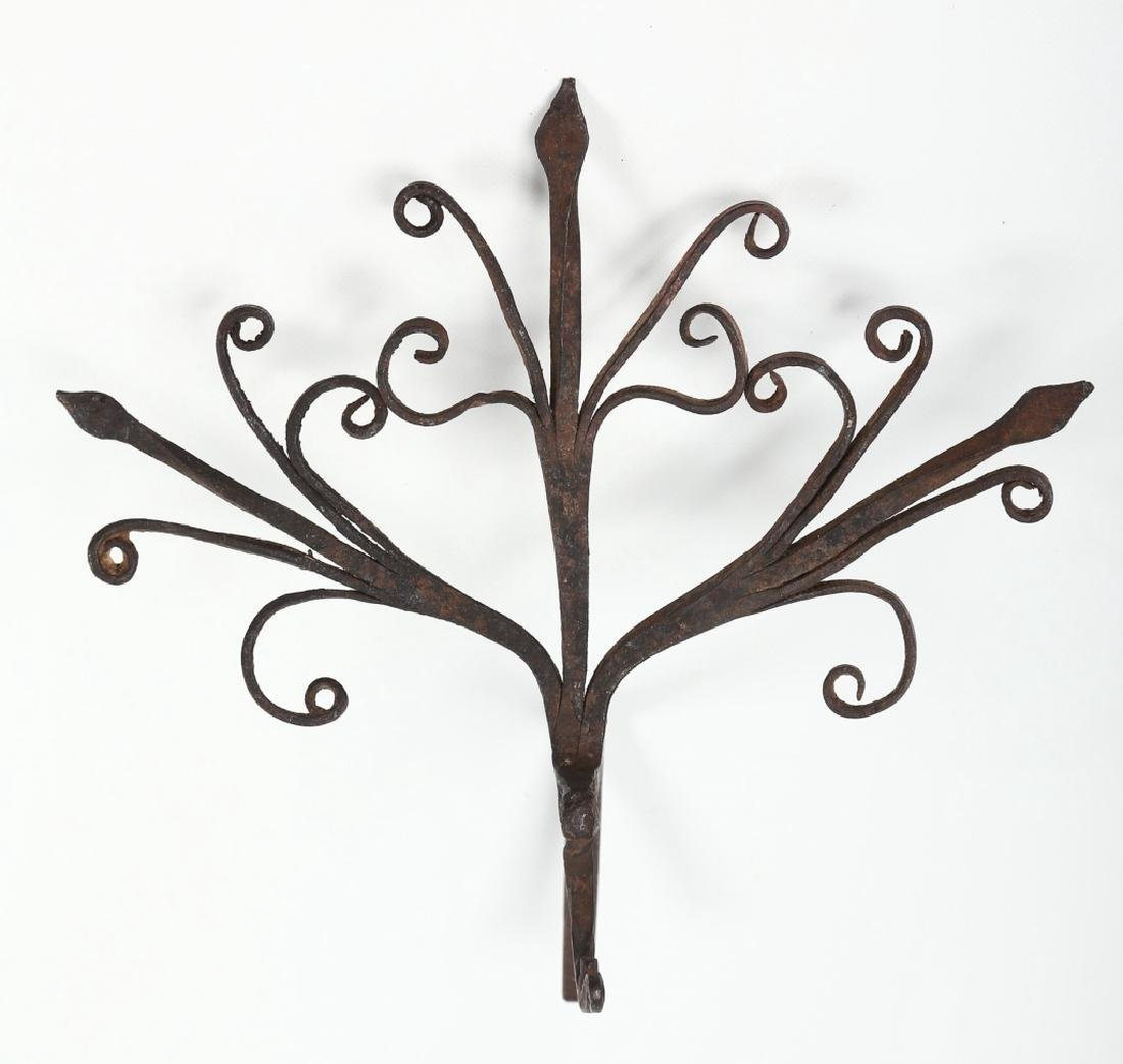 Antique Wrought Iron Wall Hook