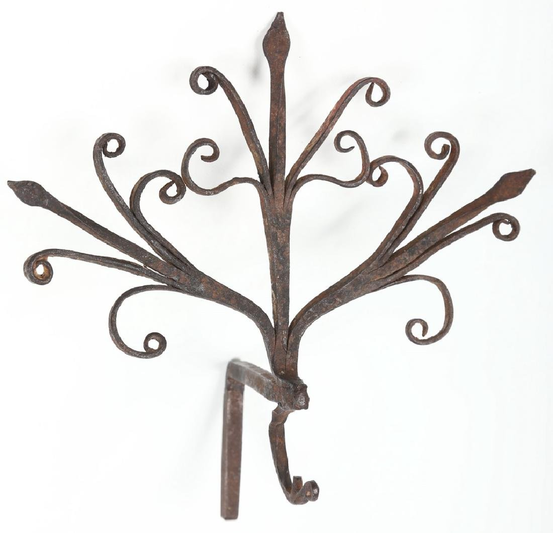 Antique Wrought Iron Wall Hook - 2
