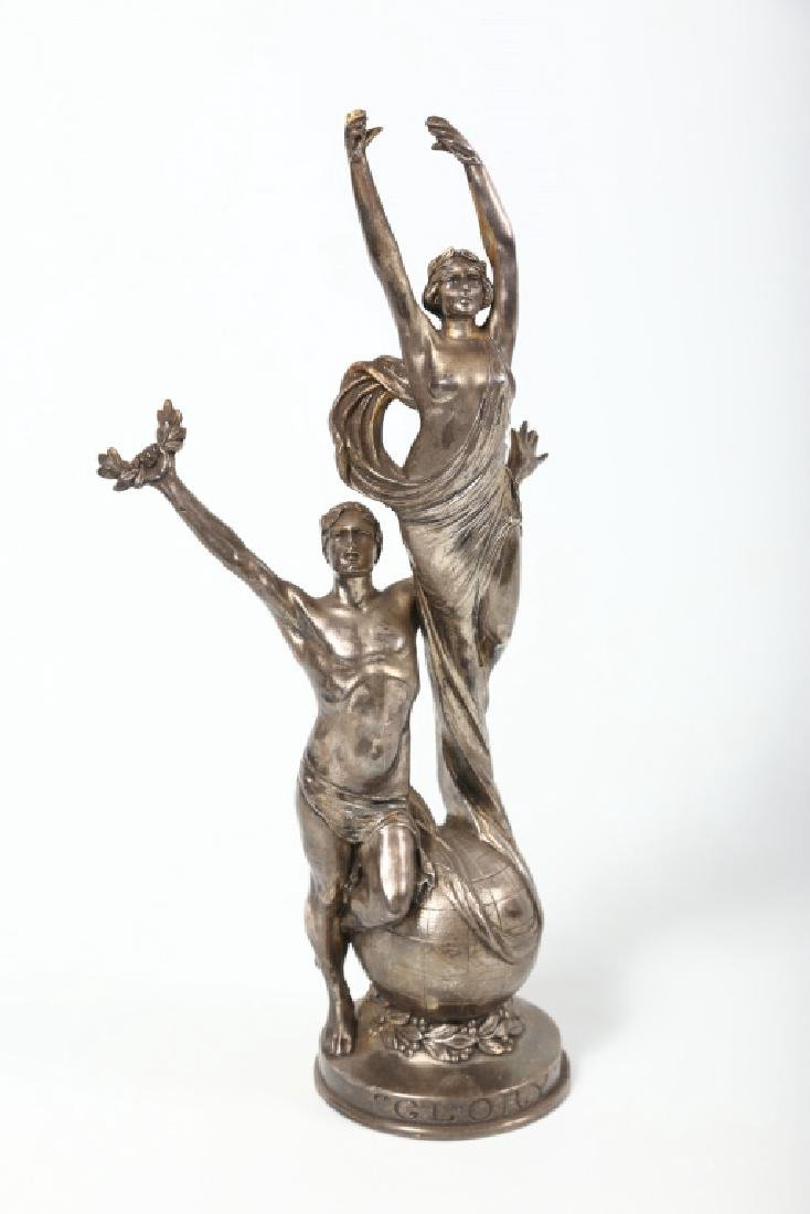 Art Deco Silver Plated Metal Figure