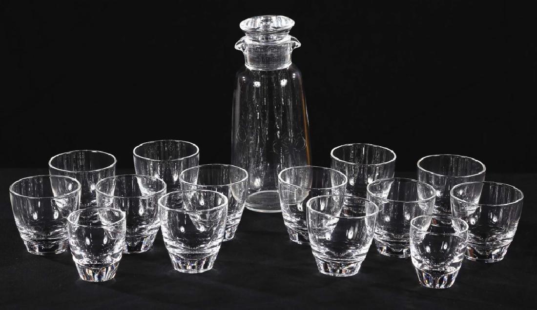 Fine Art Deco Steuben Blown Glass Drinks Set