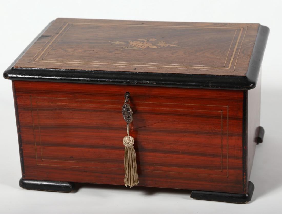 Antique Dutch Marquetry Music Box - 2
