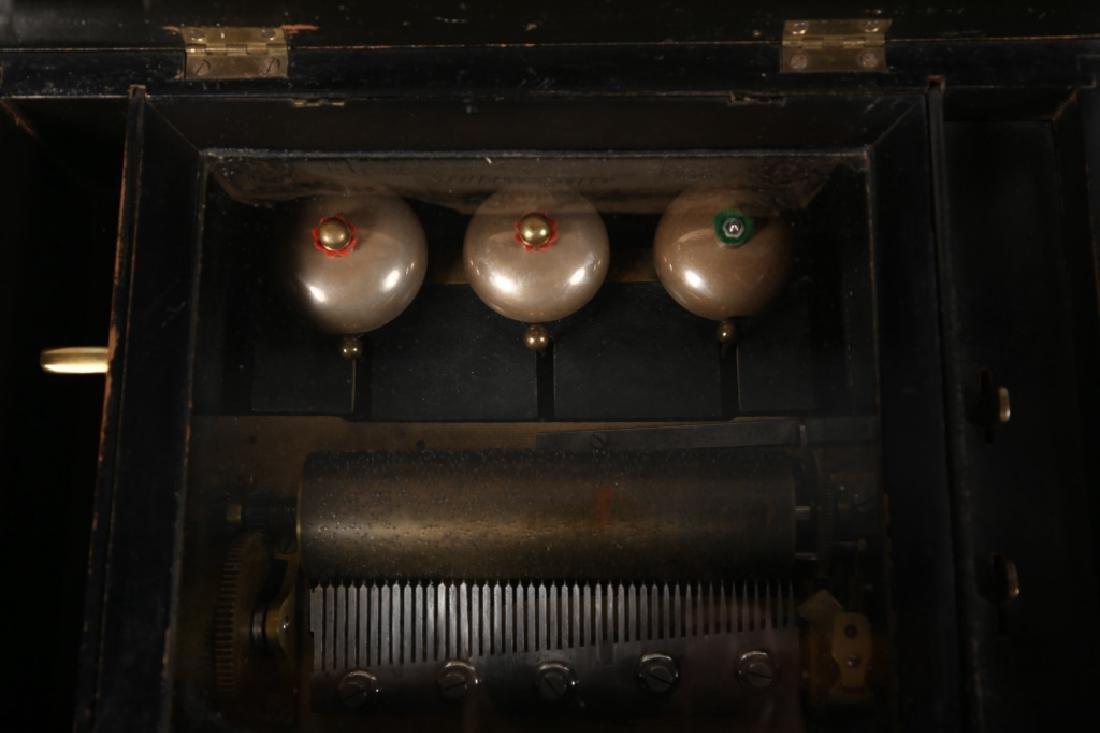 Antique Dutch Marquetry Music Box - 3