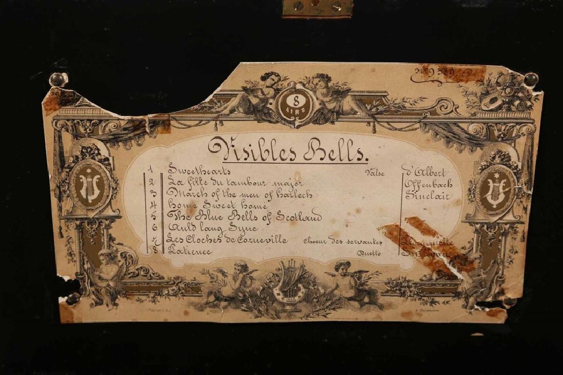 Antique Dutch Marquetry Music Box - 4