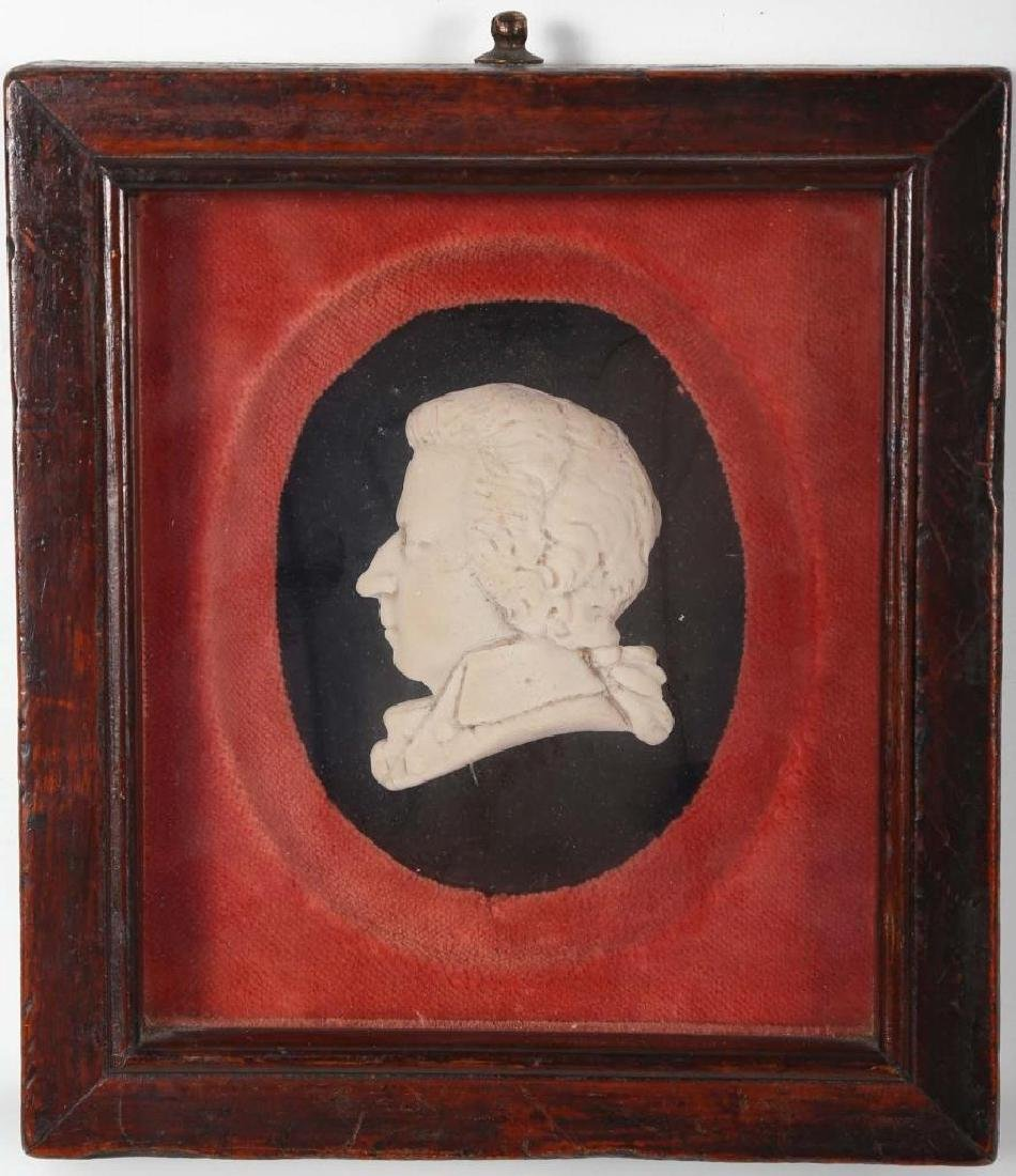 French Neoclassical Alabaster Cameo of Mozart
