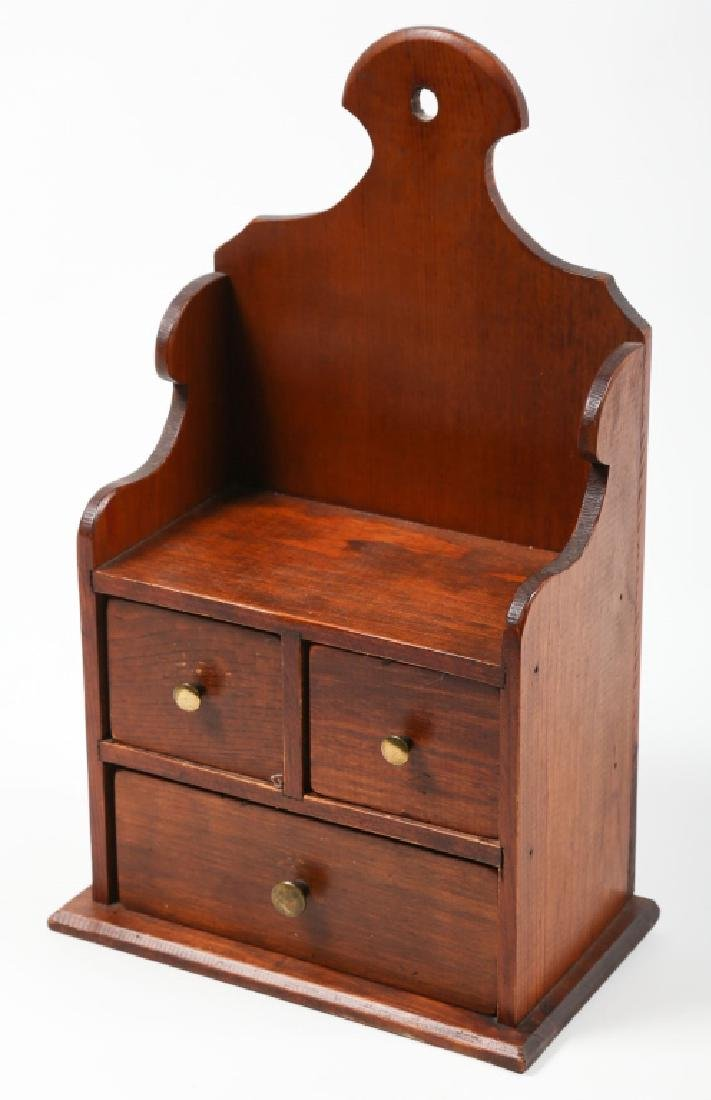 Fine Bench Made Federal Style Spice Cabinet