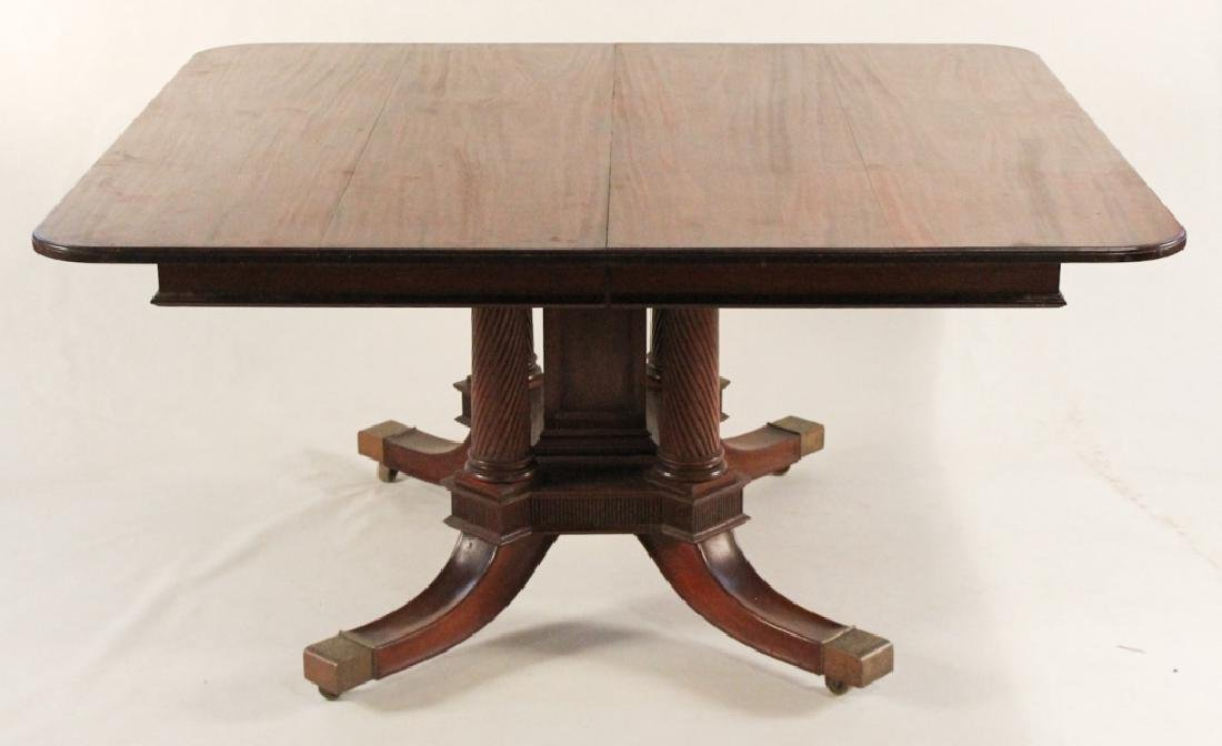 Fine Neoclassical Style Carved Mahogany Dining Tab
