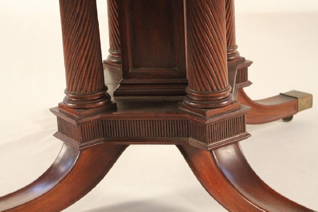 Fine Neoclassical Style Carved Mahogany Dining Tab - 3