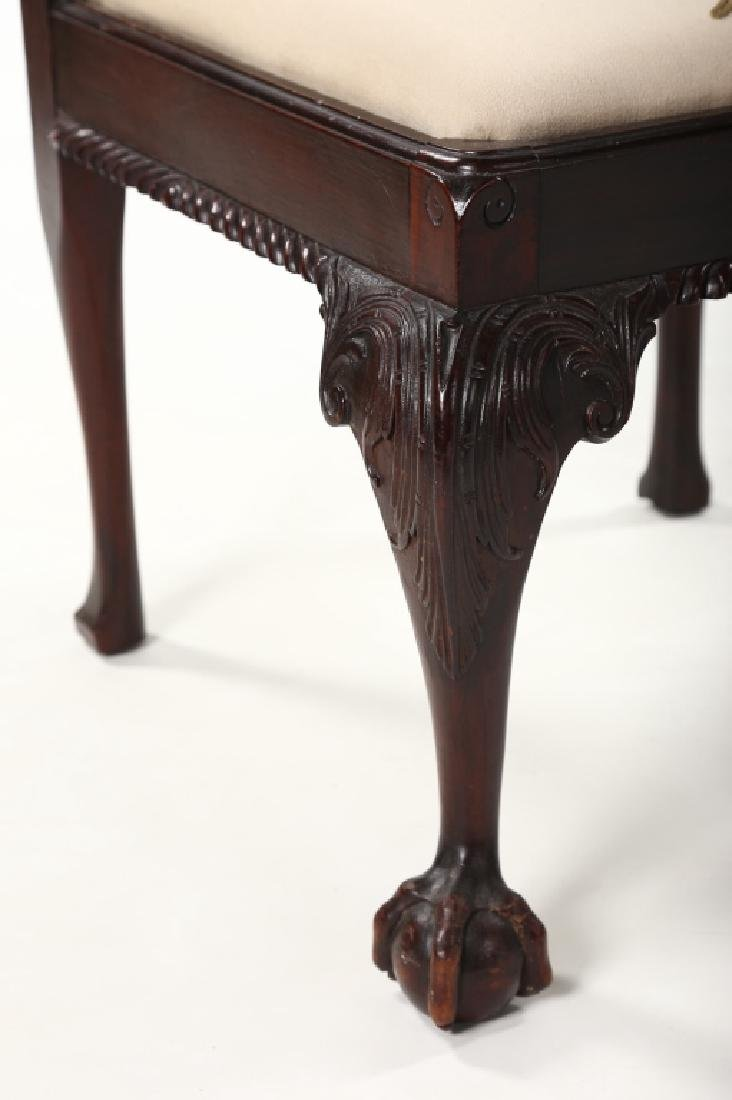 Colonial Revival Carved Mahogany Corner Chair - 3