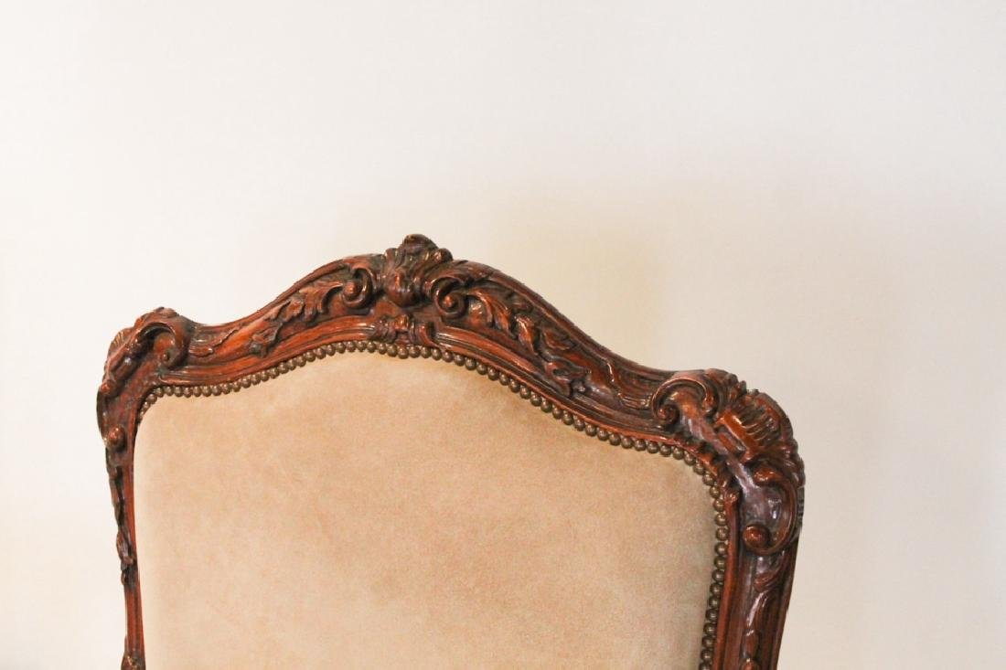 Good Pair Continental Carved Fruitwood Arm Chairs - 2