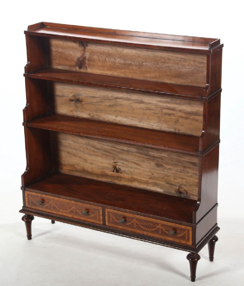 Edwardian Style Inlaid Mahogany Book Shelf