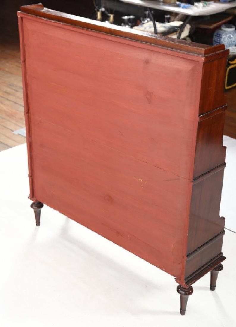 Edwardian Style Inlaid Mahogany Book Shelf - 3
