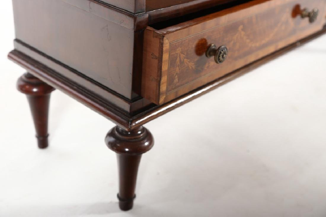 Edwardian Style Inlaid Mahogany Book Shelf - 5
