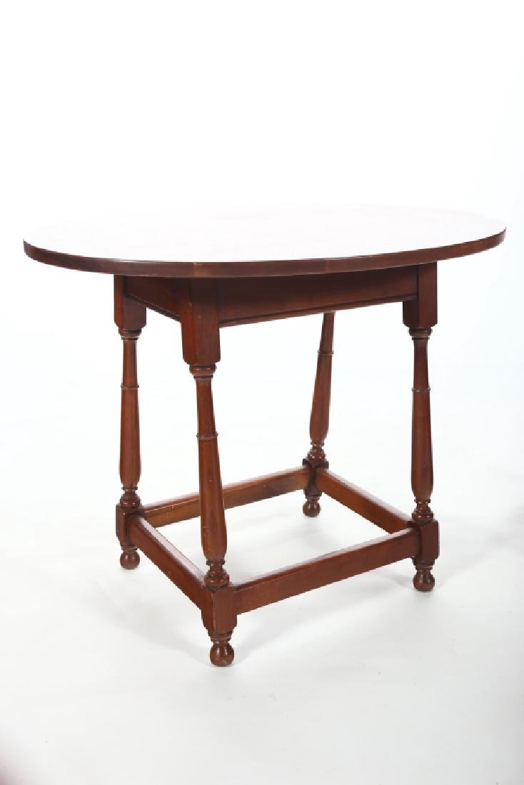 Pair William & Mary Style Walnut Side Table,Drexel - 3