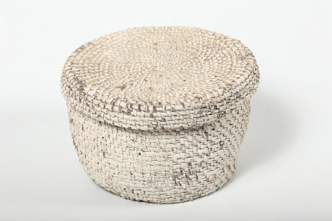 Antique Southern Gullah Lidded Basket