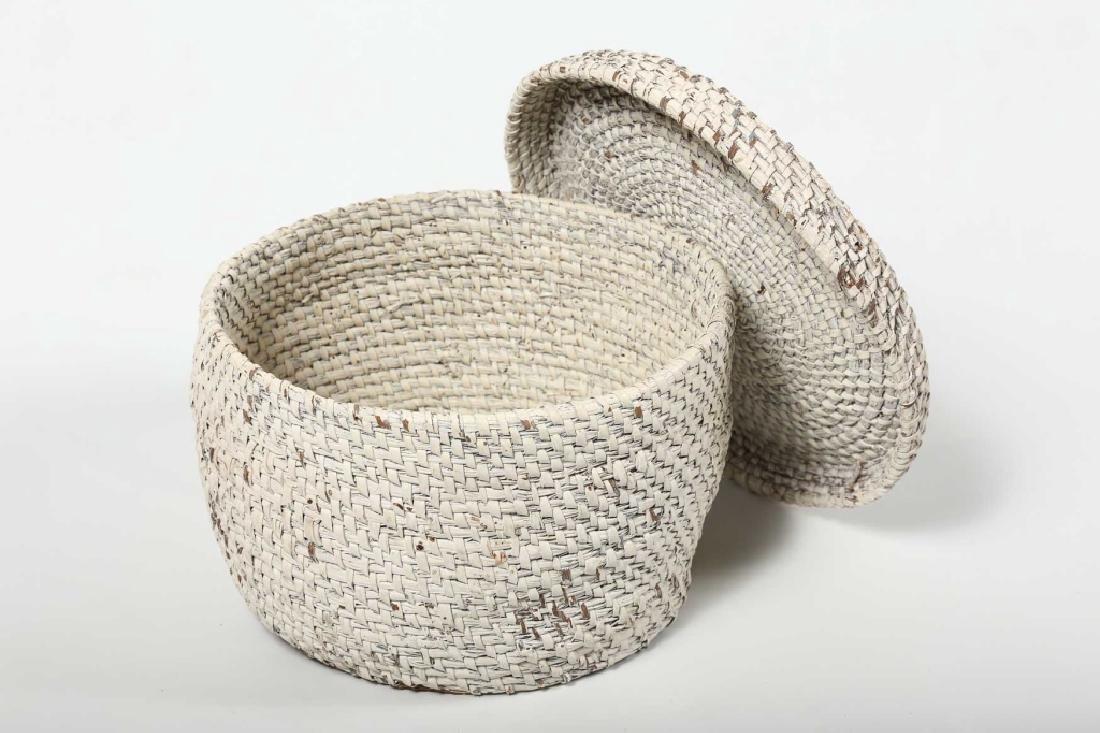 Antique Southern Gullah Lidded Basket - 2