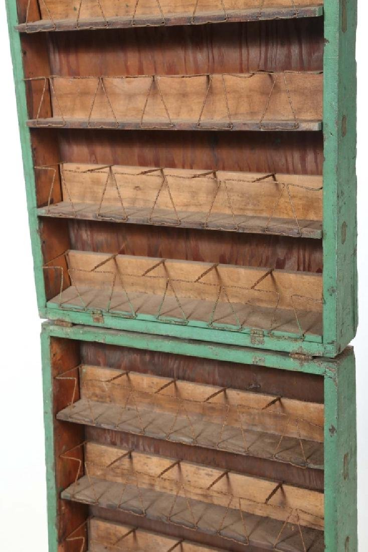 Unusual Antique Painted Travel Spice Box or Seed Rack - 2