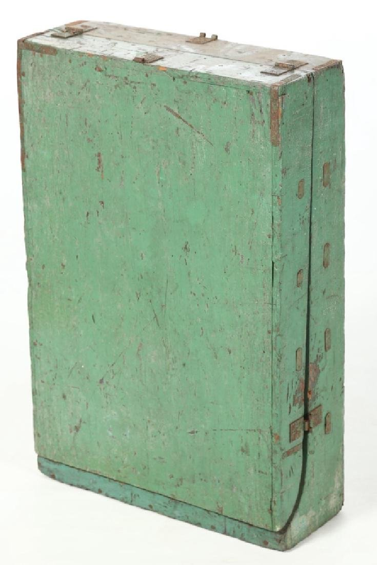 Unusual Antique Painted Travel Spice Box or Seed Rack - 4