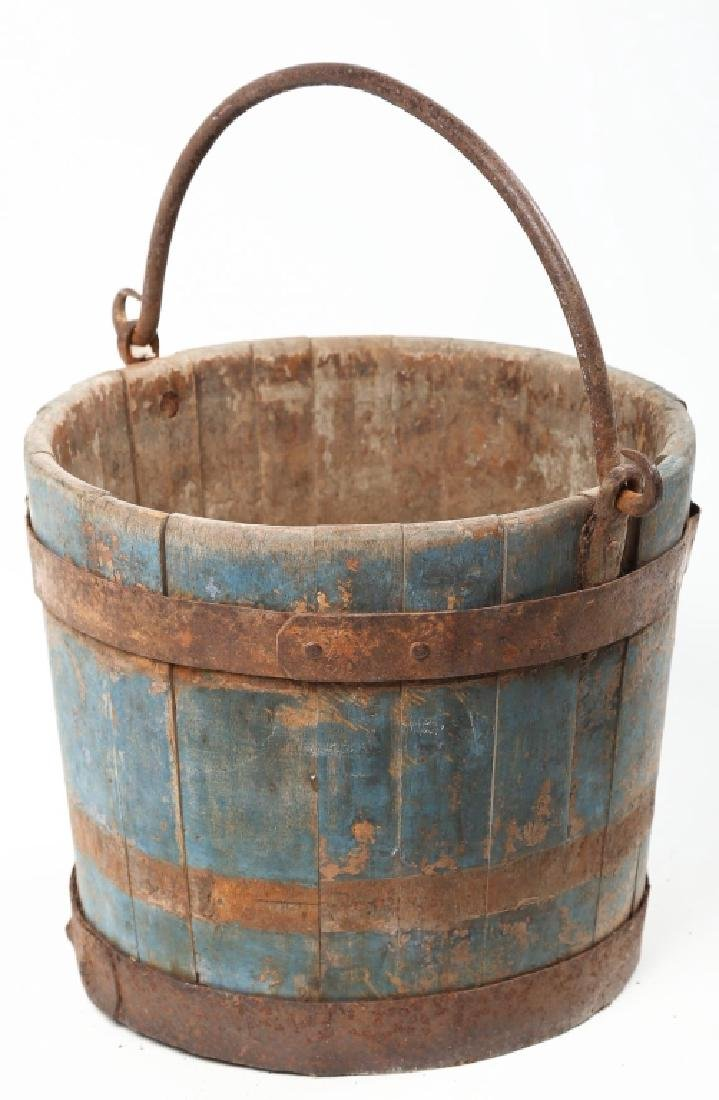Good American Paint-Decorated Wood Bucket