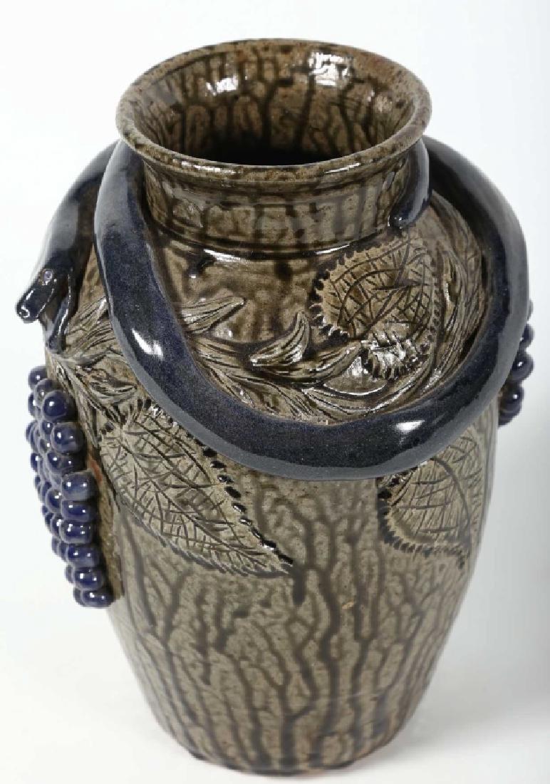 Uncommon Southern Figural Stoneware Snake Vase