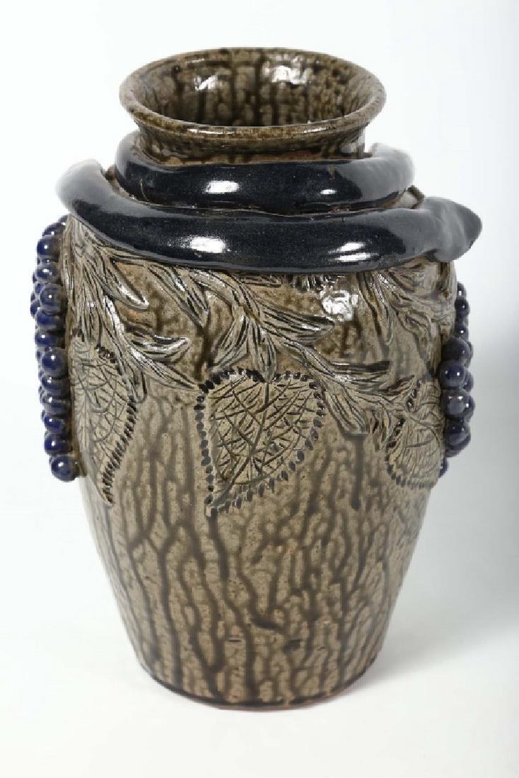 Uncommon Southern Figural Stoneware Snake Vase - 2