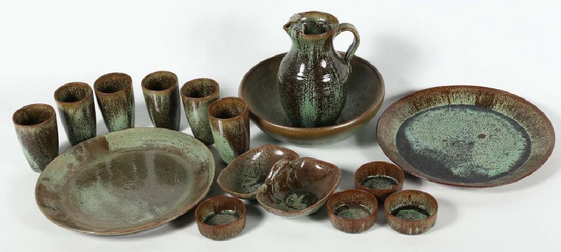 Large Set Southern Art Pottery Vessels