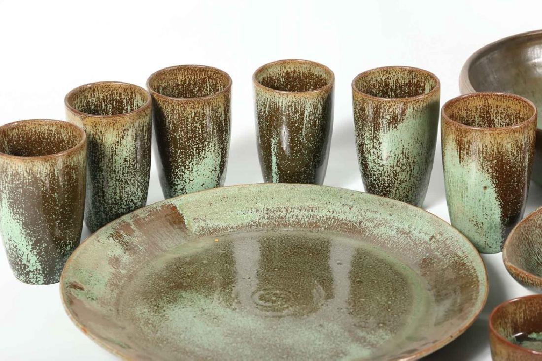 Large Set Southern Art Pottery Vessels - 3