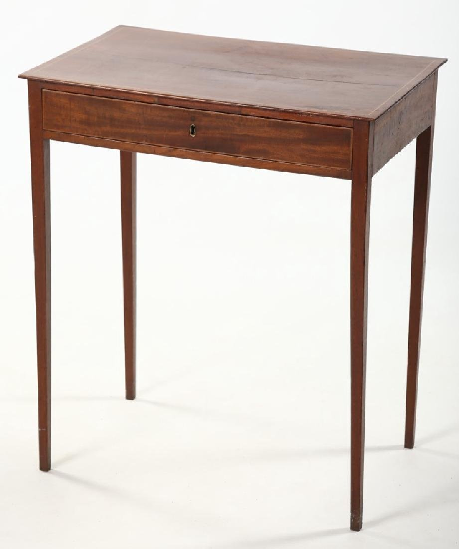 Southern Federal Inlaid Mahogany Side Table
