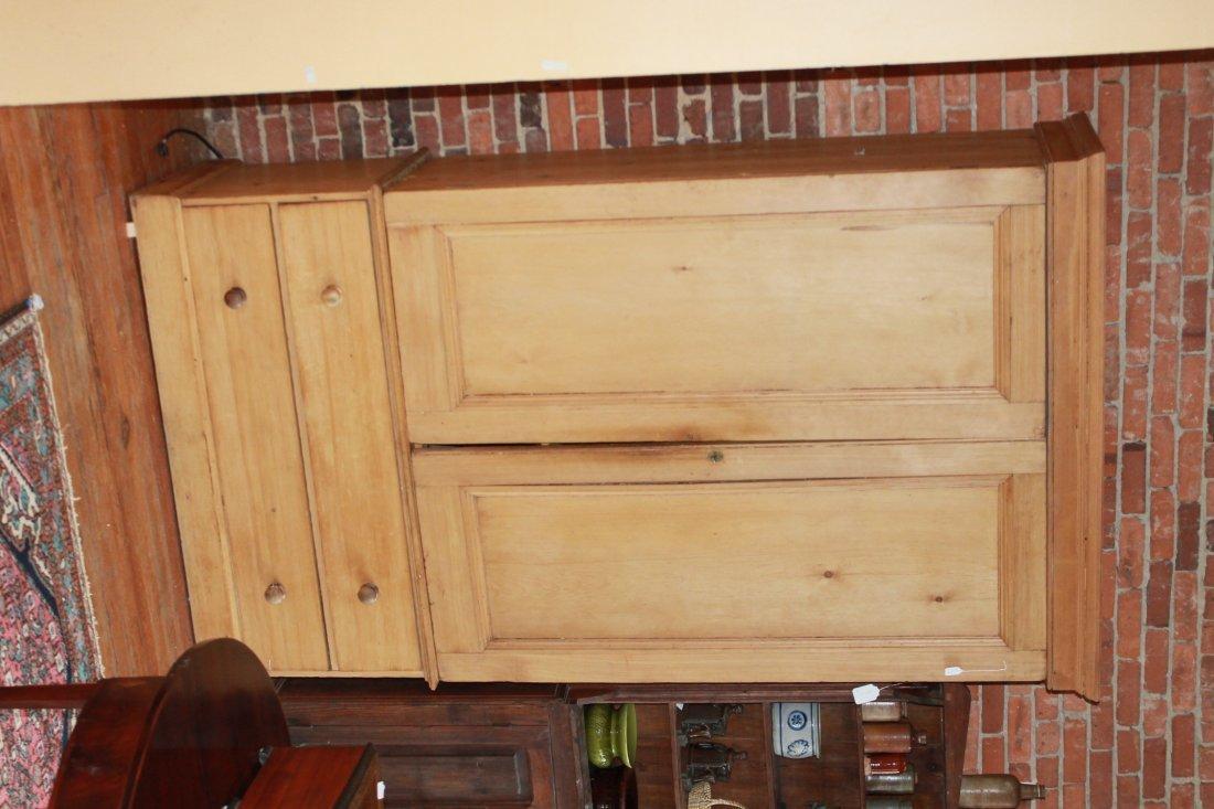 Antique English Country Pine Wardrobe