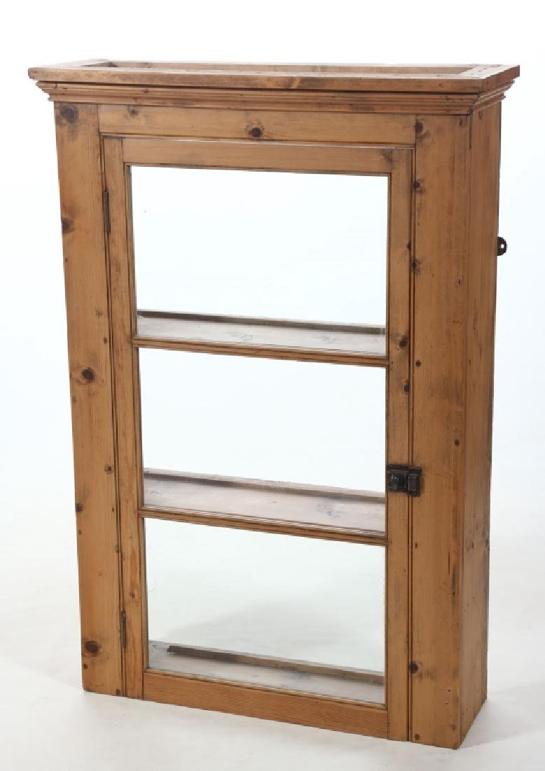 English Country Pine Wall Cabinet