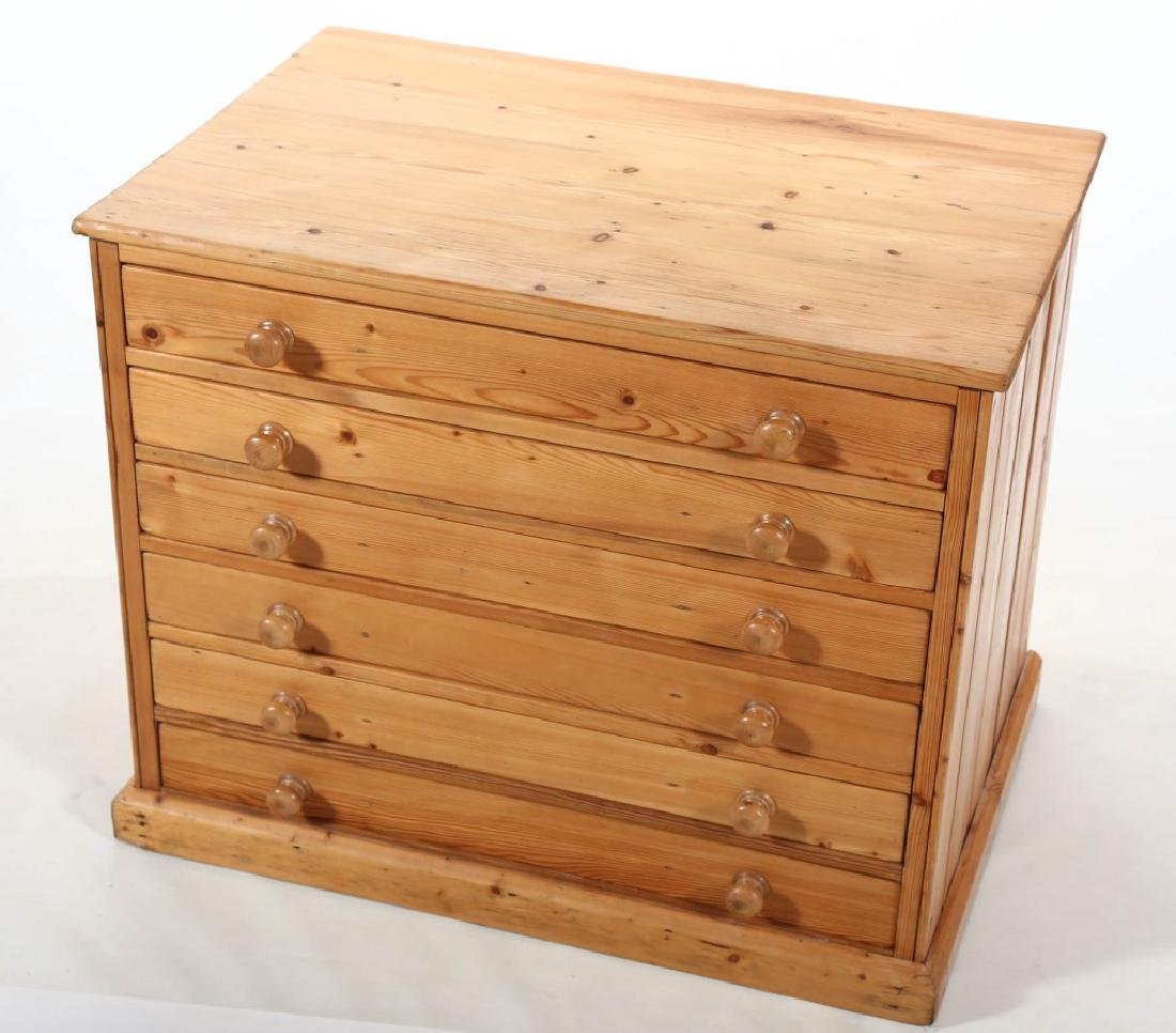 British Country Pine Specimen Cabinet