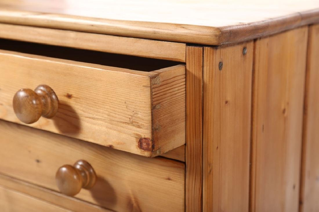 British Country Pine Specimen Cabinet - 2