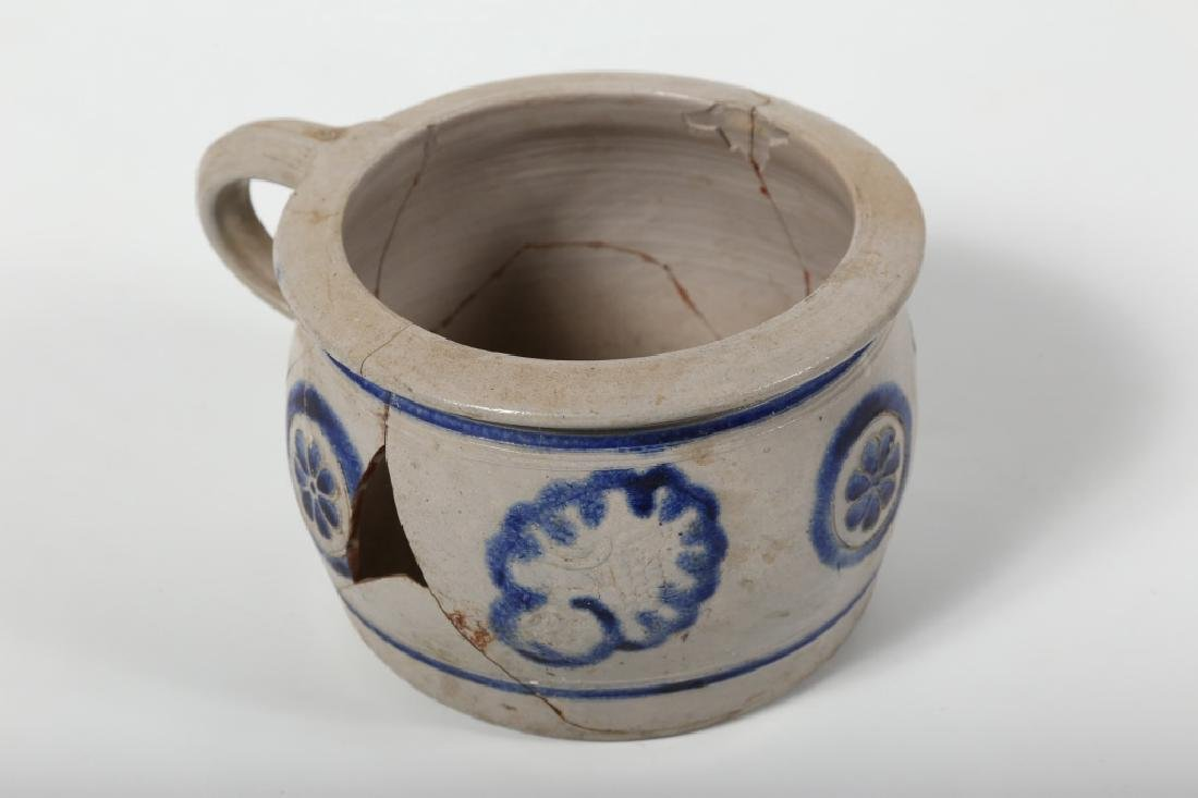 Early Continental Stoneware Decorated Chamber Pot - 2