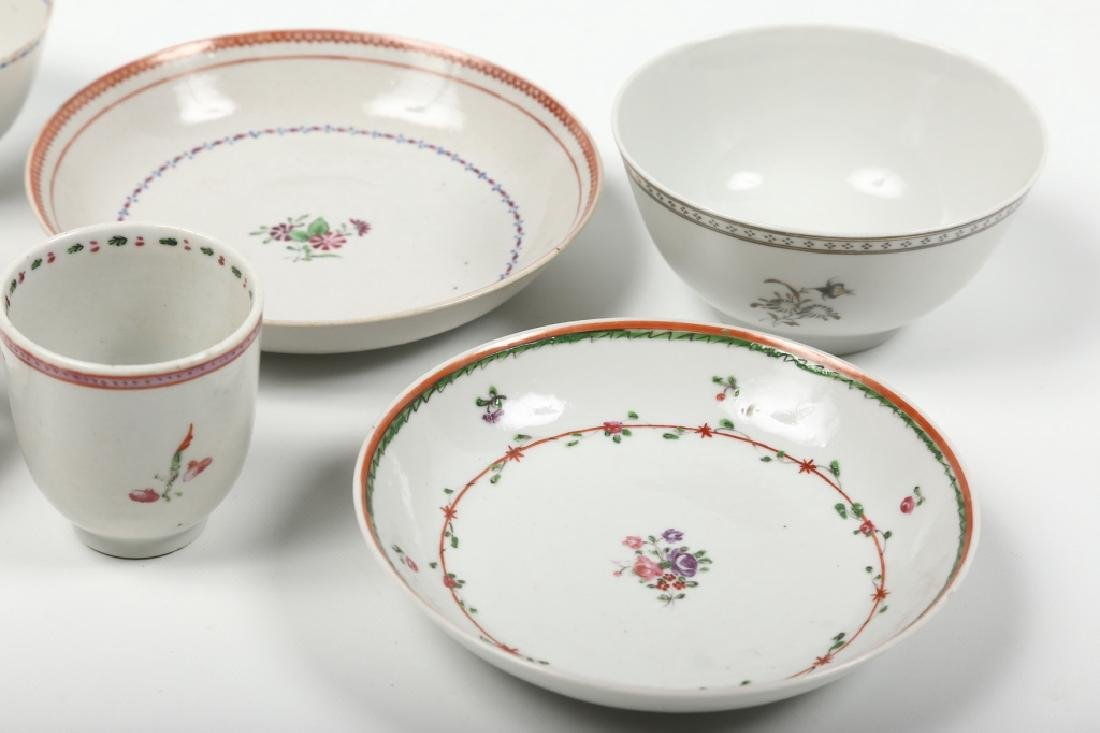 Four Antique Chinese Export Porcelain Cups & Sauce - 2