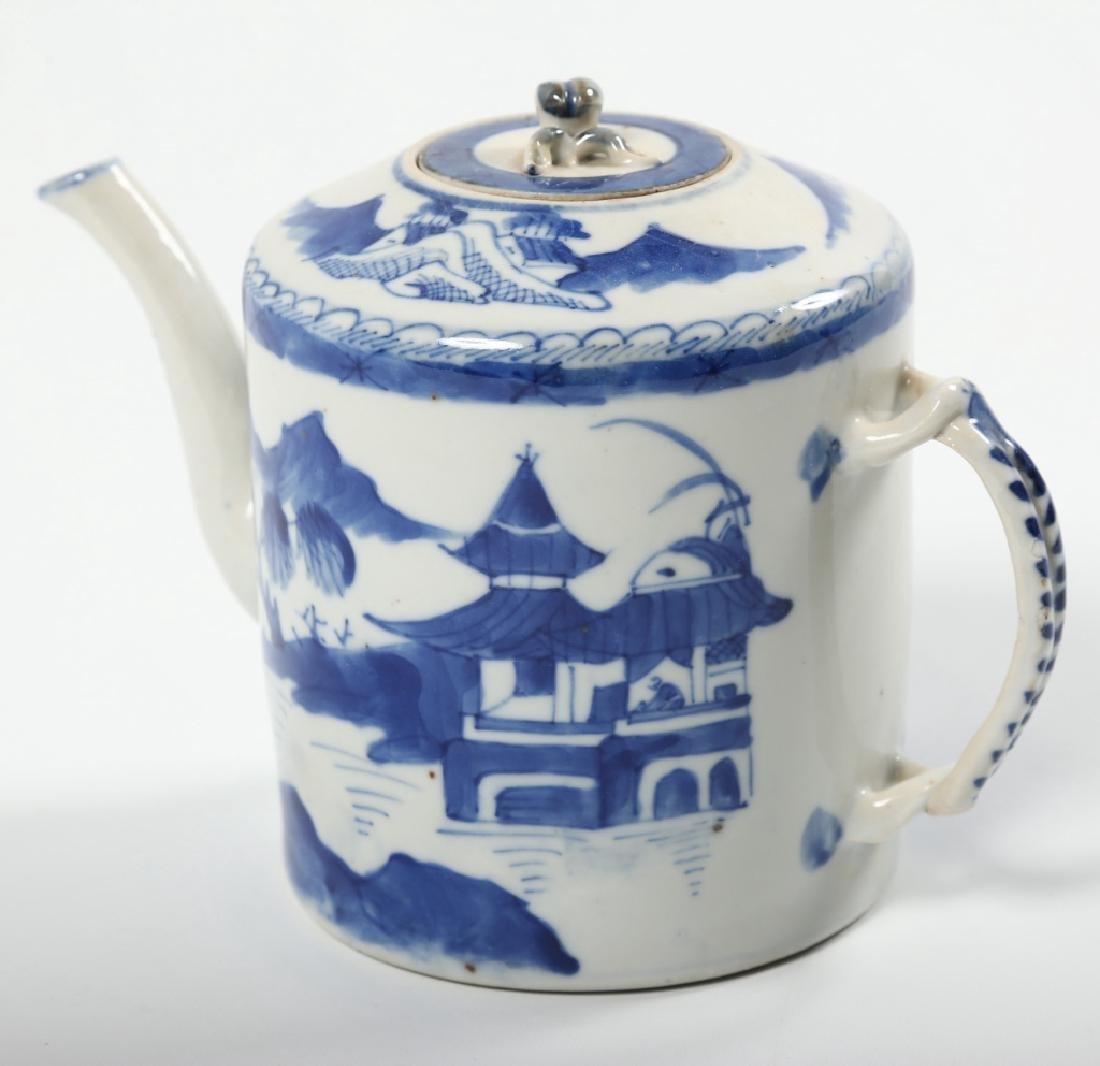 Antique Chinese Canton Porcelain Teapot