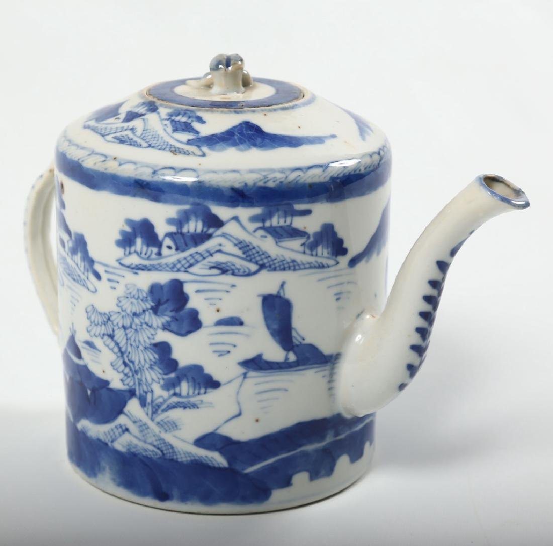 Antique Chinese Canton Porcelain Teapot - 2