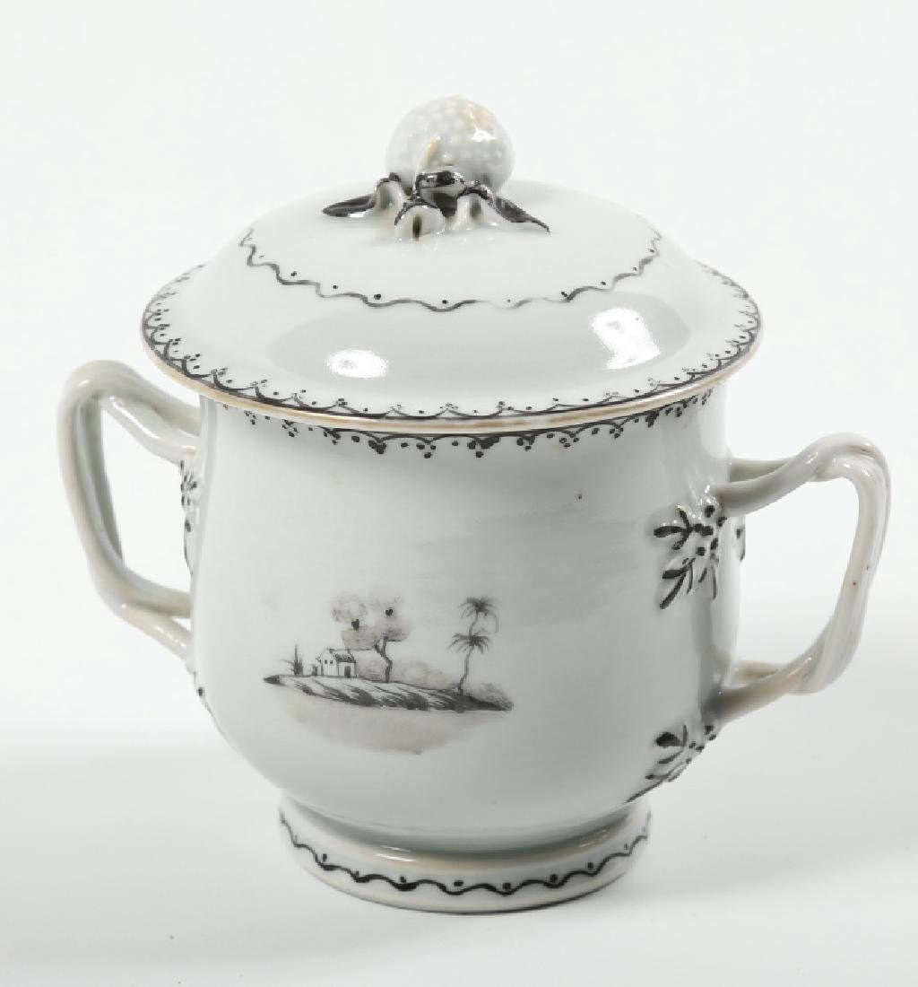 Antique Chinese Export Porcelain Lidded Cup