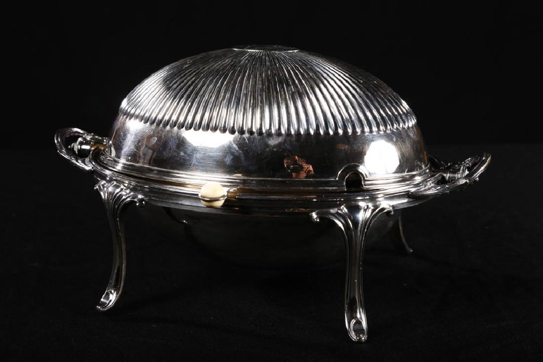Edwardian Silver Plate Dome Casserole Server