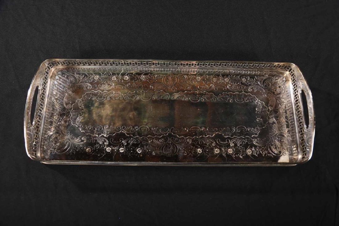 Old Sheffield Silver Plate Serving Tray - 2