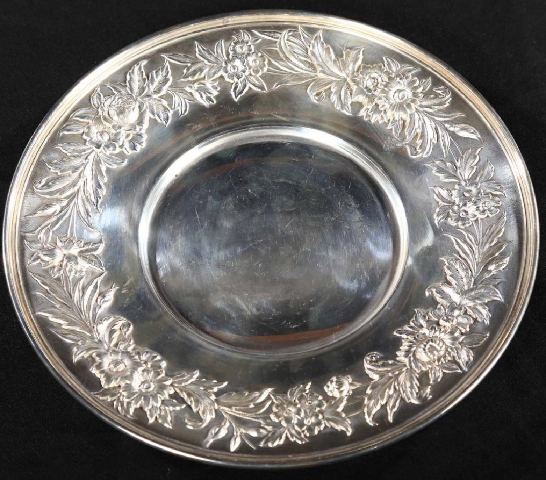 S. Kirk and Son Repousse Sterling Serving Dish