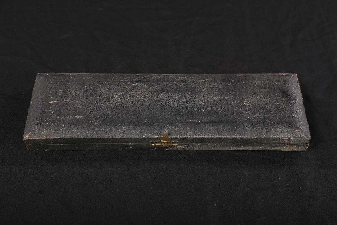 Antique Sheffield Plate Case Carving Set - 2