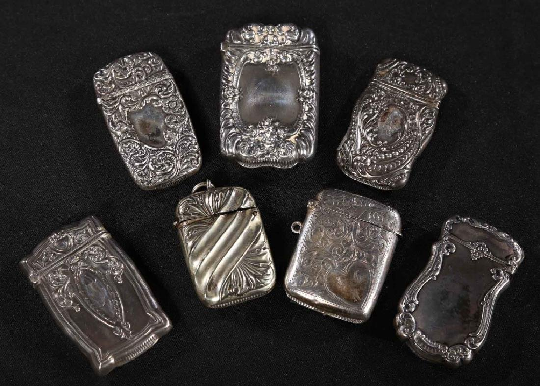 Collection Antique Sterling Silver Match Safes